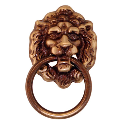 Lion's head ring pull