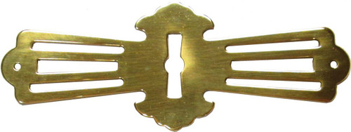 Brass Roll Top Desk Escutcheon (Key Hole Cover)