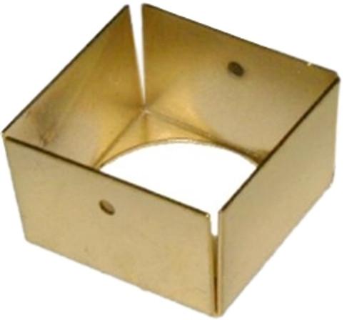 Brass Hoosier cabinet leg cap