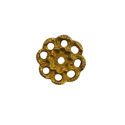 Brass Victorian Style Backplate for Bail Pull