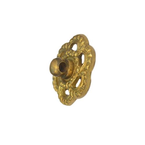 Brass Backplate with Eyebolt for Drawer Pulls
