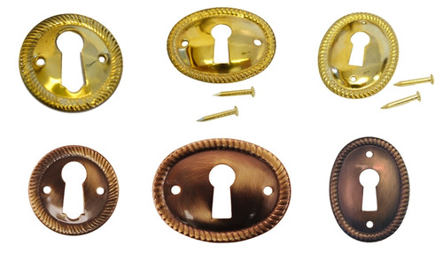 Brass & Antique Brass Keyhole Cover