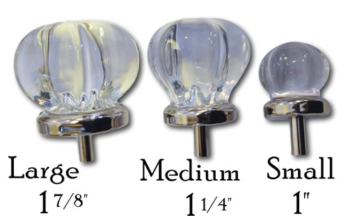 "1"" Clear Glass Knob"