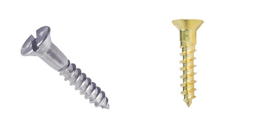 #5 Brass Steel Flat Head Wood Screw