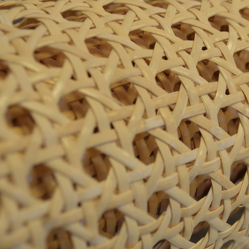 "Machine Woven Cane Webbing with 1/2"" Pattern"
