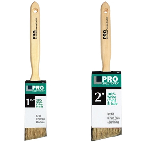 100% White China Bristle  Paint Brush Pro Solutions