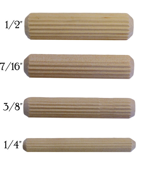 Fluted Wooden Dowel Pins