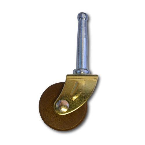 Wood & Brass Furniture Caster