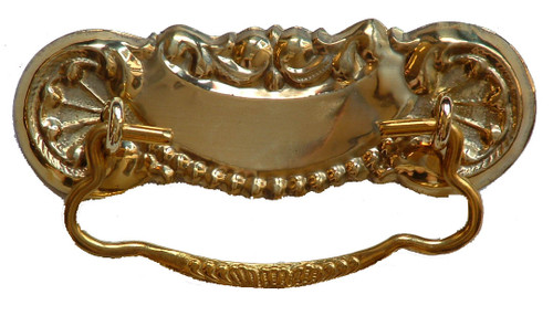 "3"" Brass Victorian Drawer Pull"