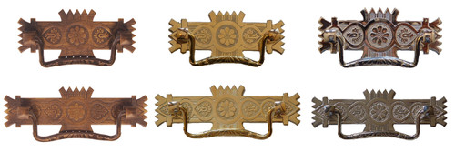 "2.5"" or 3"" Eastlake Style Pull in Brass or Antique Brass"