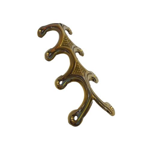 Brass Trunk Edge Clamp, Quadruple Legged