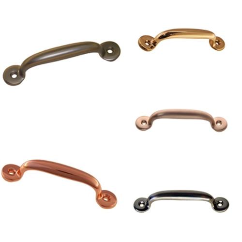 "3"" Cabinet or Drawer Handle in Copper, Brass, Oil Rubbed Bronze, Nickel & Brushed Nickel."