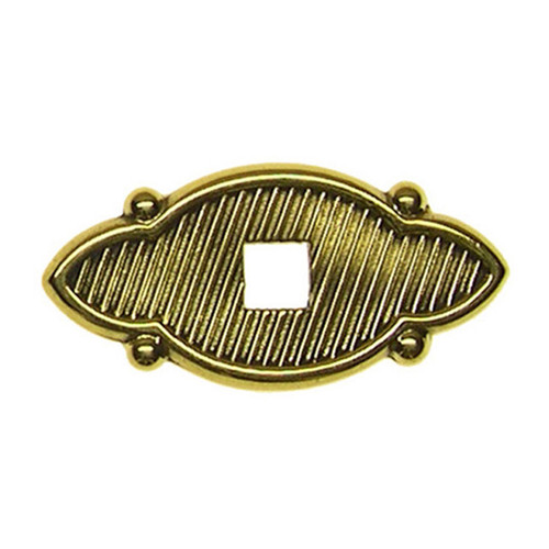 Small Brass Pendant Pull Backplate