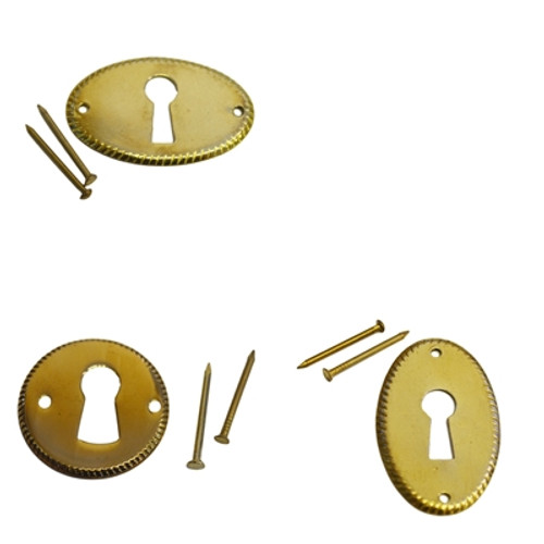 Detailed Brass Keyhole Cover