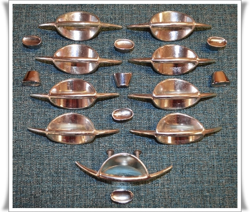 Vintage Atomic 1950's Drawer Pulls & Knob