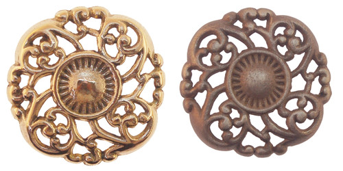 Brass or Antique Brass Knotted Victorian Knob