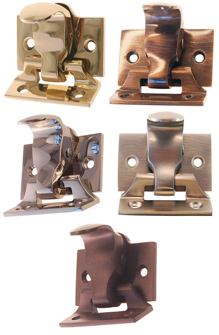 Window Sash Lock & Lift in Brass, Antique Brass, Nickel, Brushed Nickel or Oil Rubbed Bronze