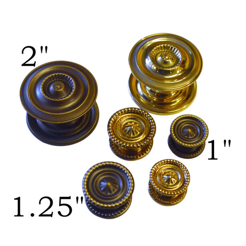 Brass Antique Brass Sheraton Knobs