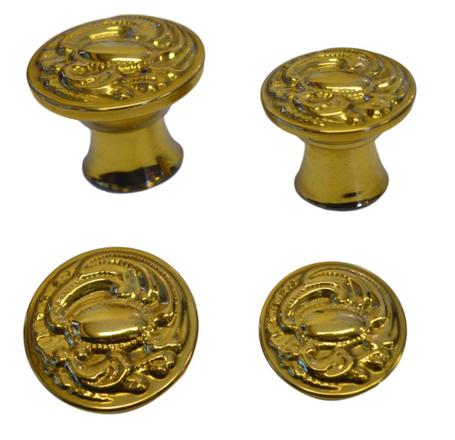 Filigree Brass Furniture Knob