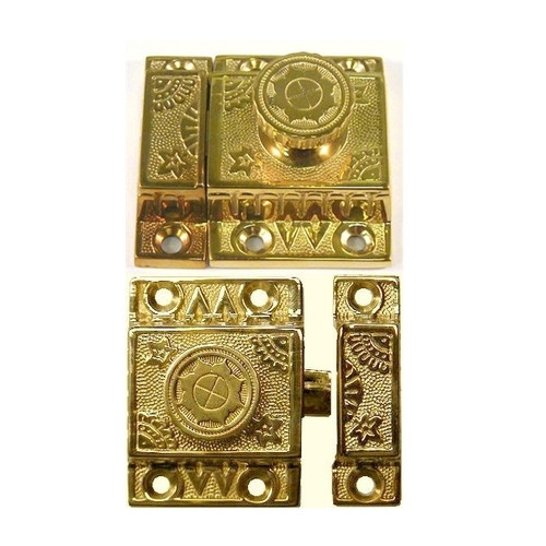 Brass Victorian Cabinet turn knob Latch