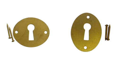 Brass Flat Keyhole Cover