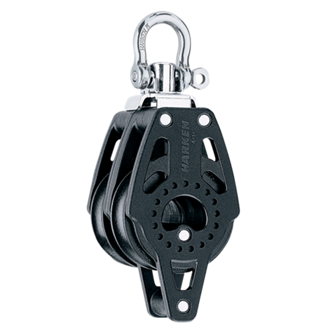 Harken 40mm Carbo Double Swivel Block w/Becket