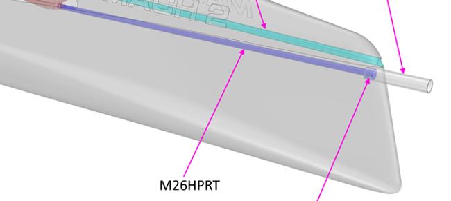 M2.6 Hull Pullrod Tube
