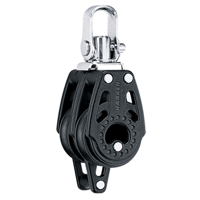 Harken 29mm Double Swivel Carbo Block w/Becket