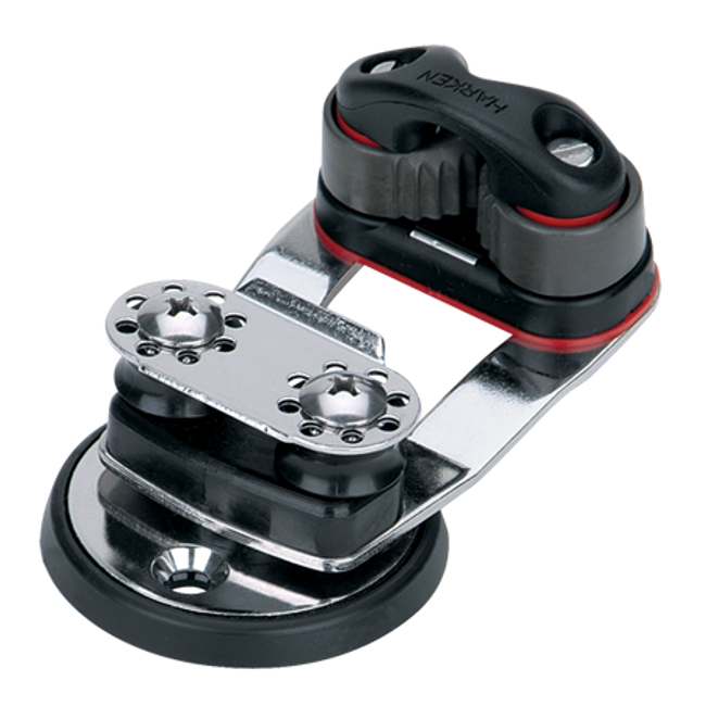 Harken Micro Swivel Cam Base w/16mm Sheaves