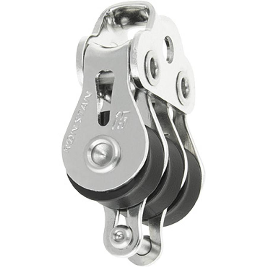 Ronstan Series 15 BB Block, Triple block, becket, loop head