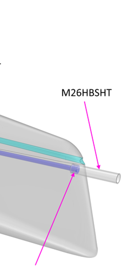 M2.6 Bowsprit Holder Tube