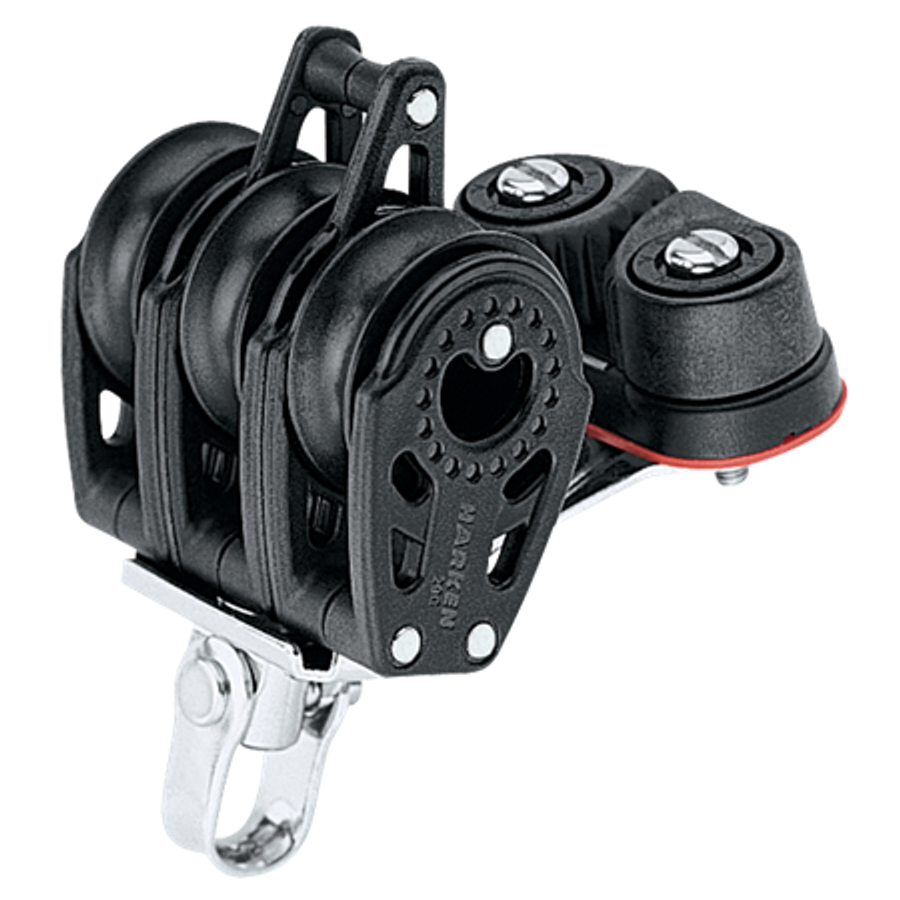 Harken 29mm Triple Carbo Block w/Cam Cleat & Becket