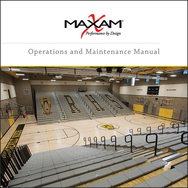 MAXAM telescopic bleacher owners manual