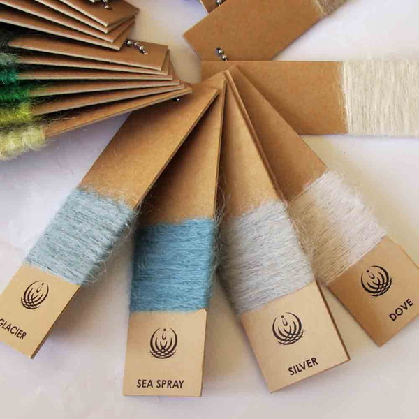 Mohair throws in 40 Designer Hues