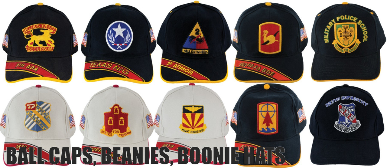 BALL CAPS - BEANIES - BOONIE HATS