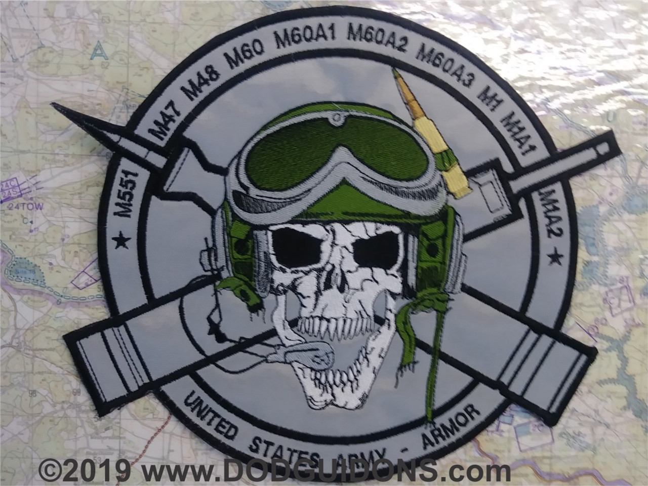 HEAT AND SABOT SKULL BACK PATCH *B15*