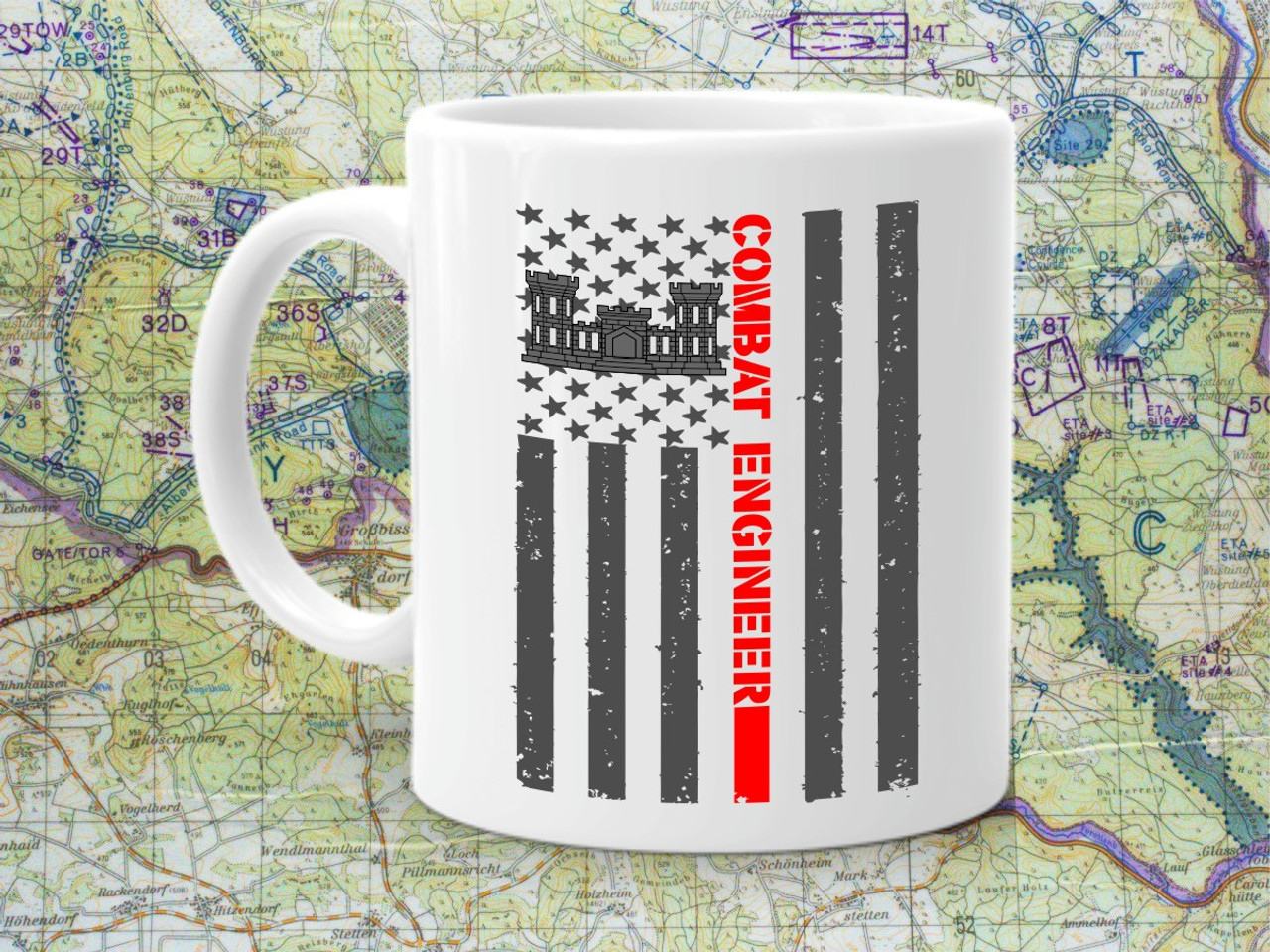 ARMY CORPS OF ENGINEERS 11oz Ceramic White Coffee mug