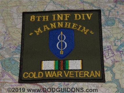 8th ID COLD WAR VETERAN PATCH MANNHEIM