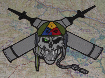HEAT AND SABOT SKULL BACK PATCH