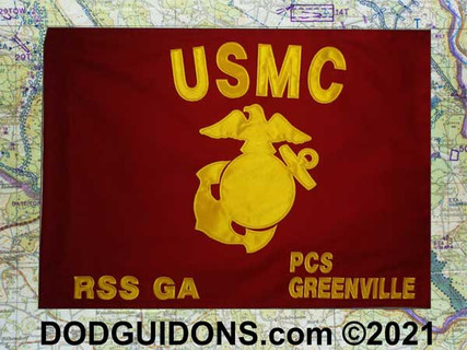 """Marine Corps  GUIDON Full Size for Frame (20""""x28"""")"""