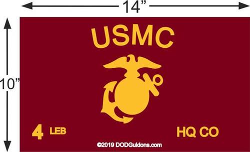 USMC Guidon for frame 10x14