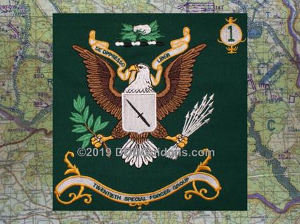 """20TH Special Forces Regimental Flag """"DE OPPRESSO LIBER"""""""