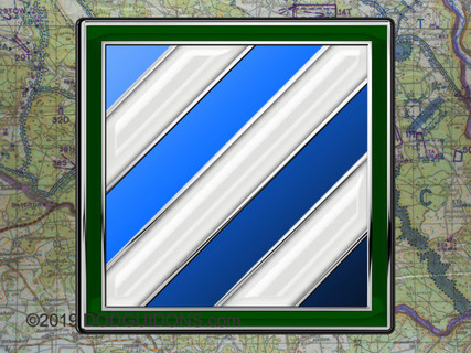 3RD INFANTRY DIVISION METAL SIGN 16X16