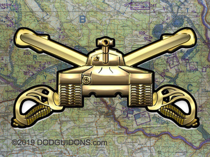 U.S. ARMY ARMOR METAL SIGN