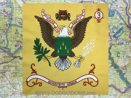 70TH Armor Regimental flag