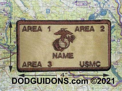 Flak Plate Carrier USMC ID w/Fastener Name/Rank/BLOOD/Unit