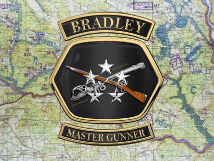 Bradley Master Gunner medallion shadow box