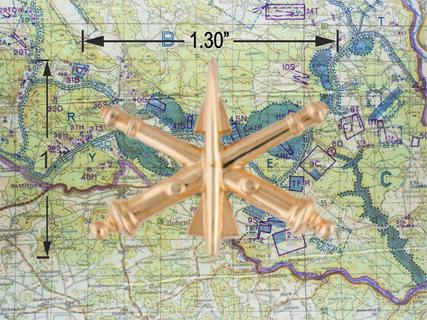 Air Defense Artillery hat pin