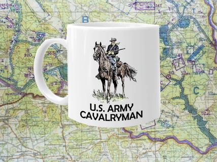 Cavalry Man Cold War Vet Coffee Cup