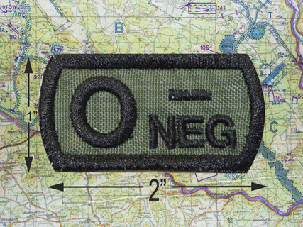 Blood Type Tactical Patch o neg  green